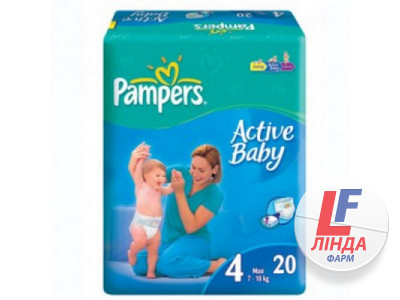 Подгузники Pampers Active Baby Макси №20-0